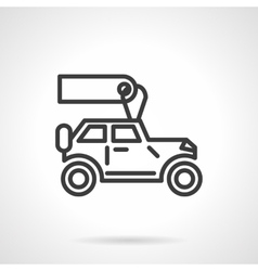 Automobiles for rent black line icon vector image