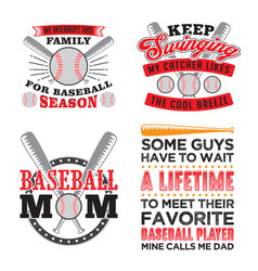 Baseball quote and saying set best for print vector