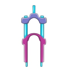 Bicycle suspension fork icon cartoon style vector