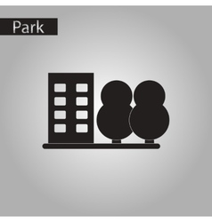 Black and white style icon park house vector
