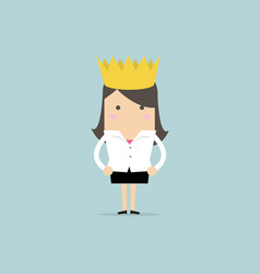 businesswoman wearing a crown vector image