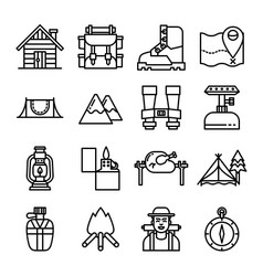 camping line icon vector image