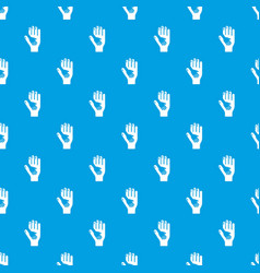 caring hand pattern seamless blue vector image