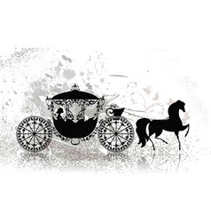 Carriage horse grunge vector