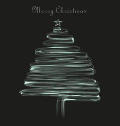 Christmas tree on the simple background vector