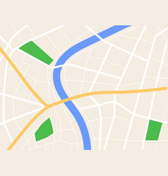 city gps map background with river and roads vector image