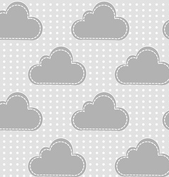 Clouds with snow vector image