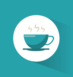 Coffee cup hot drink vector