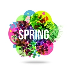 Colorful Abstract Flower Background Spring Floral vector