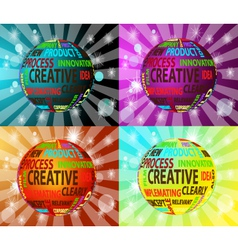 colorful creative balls vector image