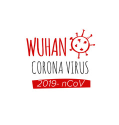 dangerous chinese 2019-ncov virus vector image