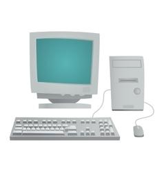 Desktop computer isolated vector