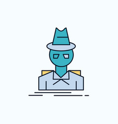 5e75c13a Detective hacker incognito spy thief flat icon vector ...