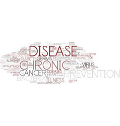 Disease word cloud concept vector