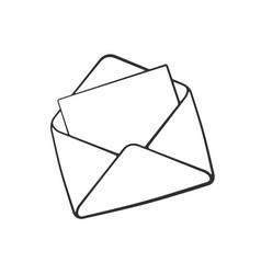 Doodle opened envelope vector