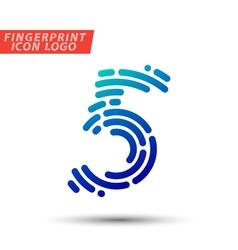 Fingerprint logo font 32 vector