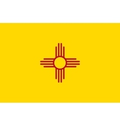 Flag of New Mexico in correct size colors vector