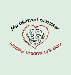For the beloved monster vector