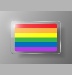 gay flag or lgbt rainbow flag pride vector image