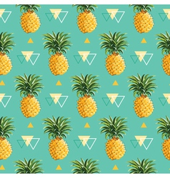 Geometric pineapple background - seamless pattern vector