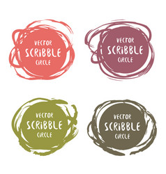 hand drawn scribble colorful labels with text vector image