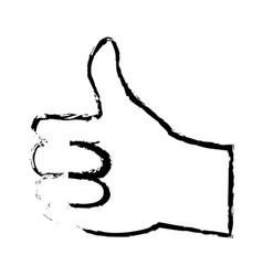 hand man ok like gesture icon image vector image