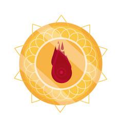 happy bhai dooj gold mandala decoration label vector image