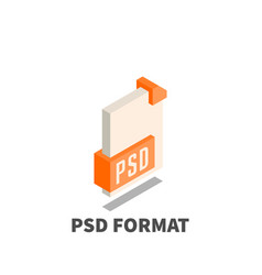 image file format psd icon symbol vector image
