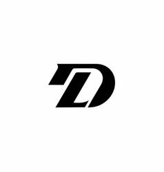 Initial letter d logo template design vector
