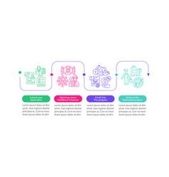 Internship overseas infographic template vector
