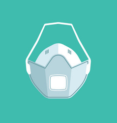 isolated respiratory medical mask vector image