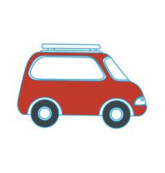 Isolated travel car vector