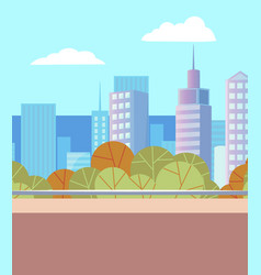 landscape with skyscrapers and business center vector image