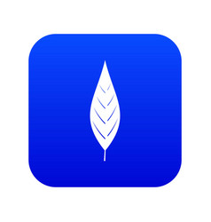 Leaf of willow icon digital blue vector