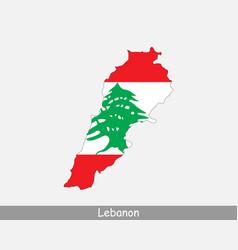 lebanon map flag vector image
