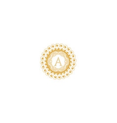 Letter a initial logo for wedding boutique luxury vector