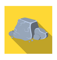 Metal ore icon in flat style isolated on white vector