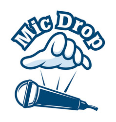 mic drop logo vector image