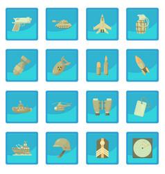 Military icon blue app vector
