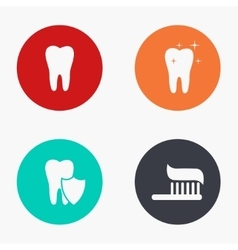 modern tooth colorful icons set vector image