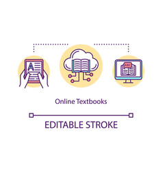 online textbooks concept icon vector image
