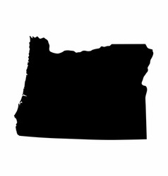 Oregon state silhouette map vector