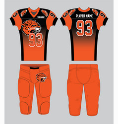 Pattern-filled black and orange american football vector