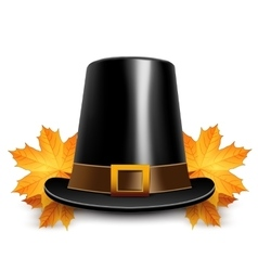 Pilgrims hats for thanksgiving vector