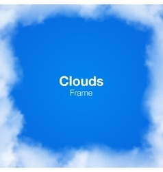 Realistic Clouds Frame on blue sky vector
