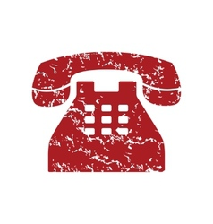 Red grunge Telephone logo vector