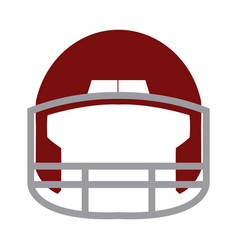 red helmet football equipment sport image vector image