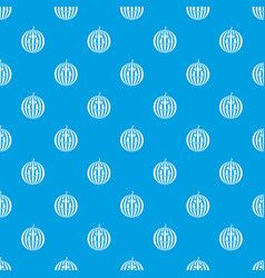 ripe smiling watermelon pattern seamless blue vector image
