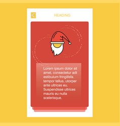 santa clause mobile vertical banner design design vector image