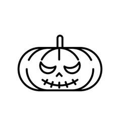 Scary jack o lantern halloween pumpkin vector